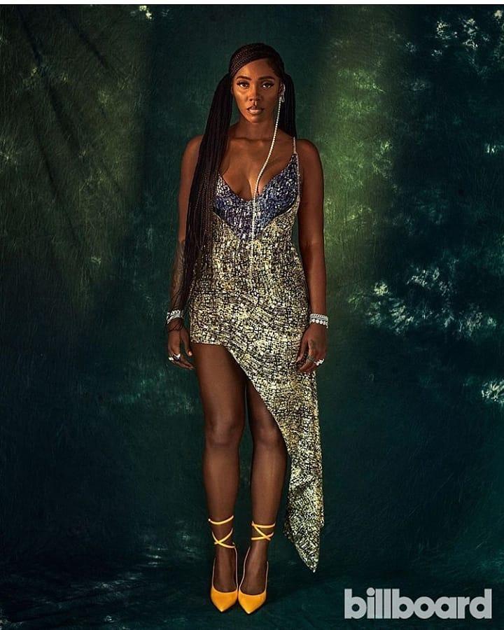 Tiwa Savage Wears Nigerian Designer, Lisa Folawiyo as The Star Covers Billboard Latest Issue