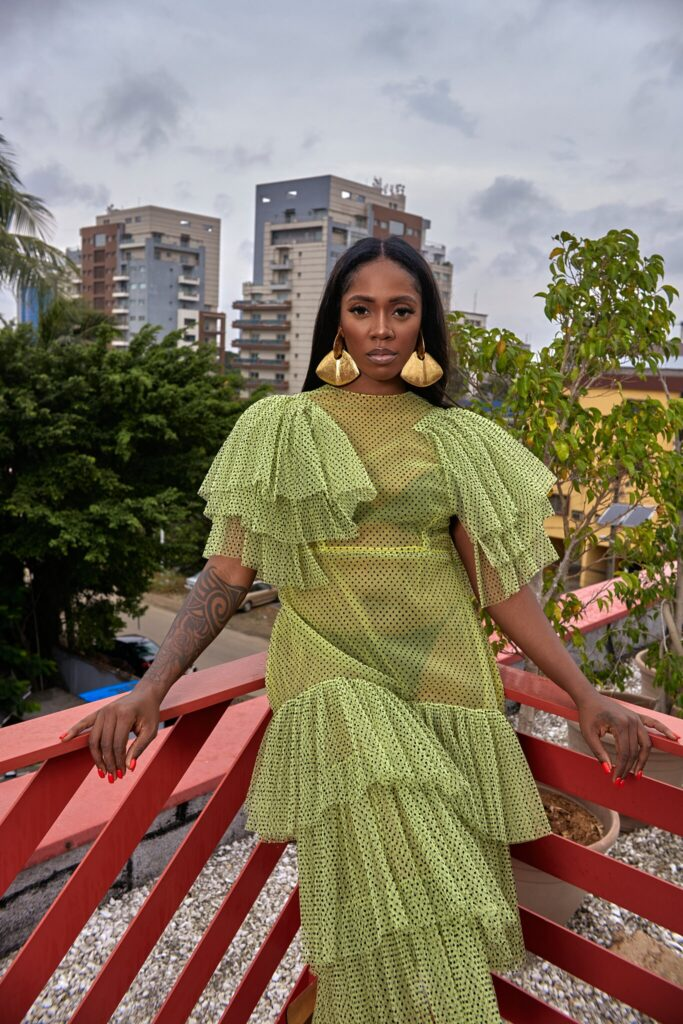 Afrobeats Singer Tiwa Savage Wore All Nigerian Designers in New York Times Feature