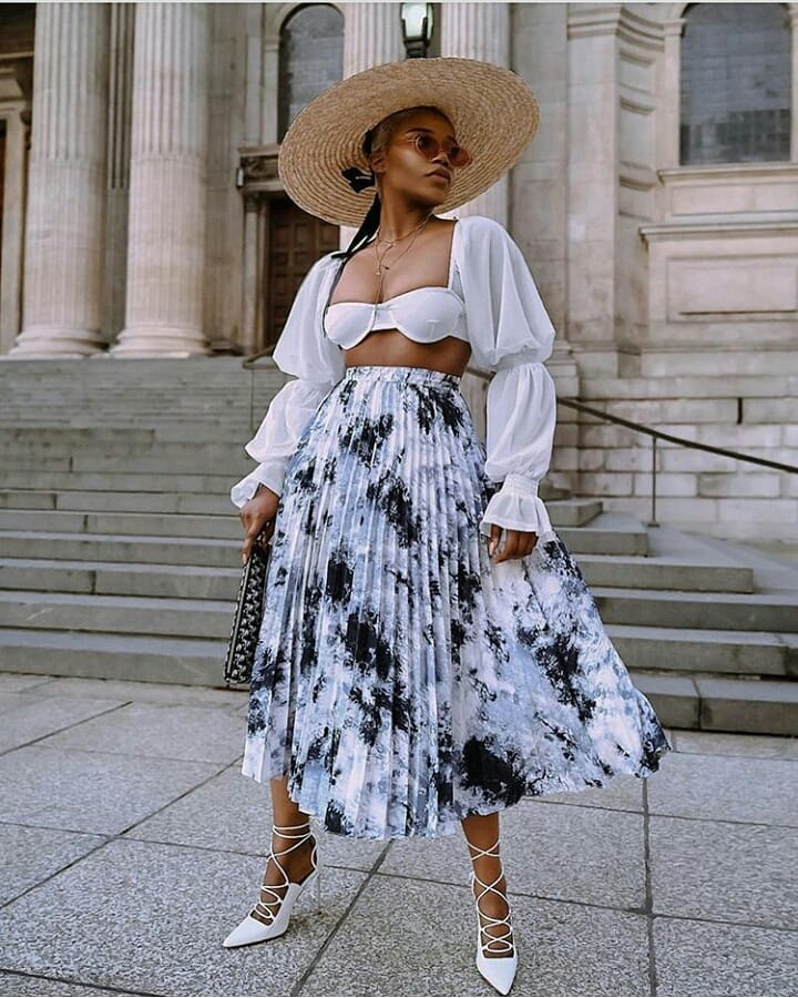 14 Chic Ways To Style A Pleated Skirt