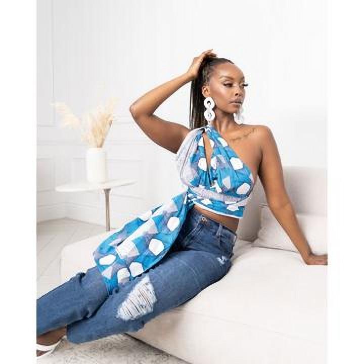 ÖFUURË Designs colourful new African Print Infinity Crop Top Collection