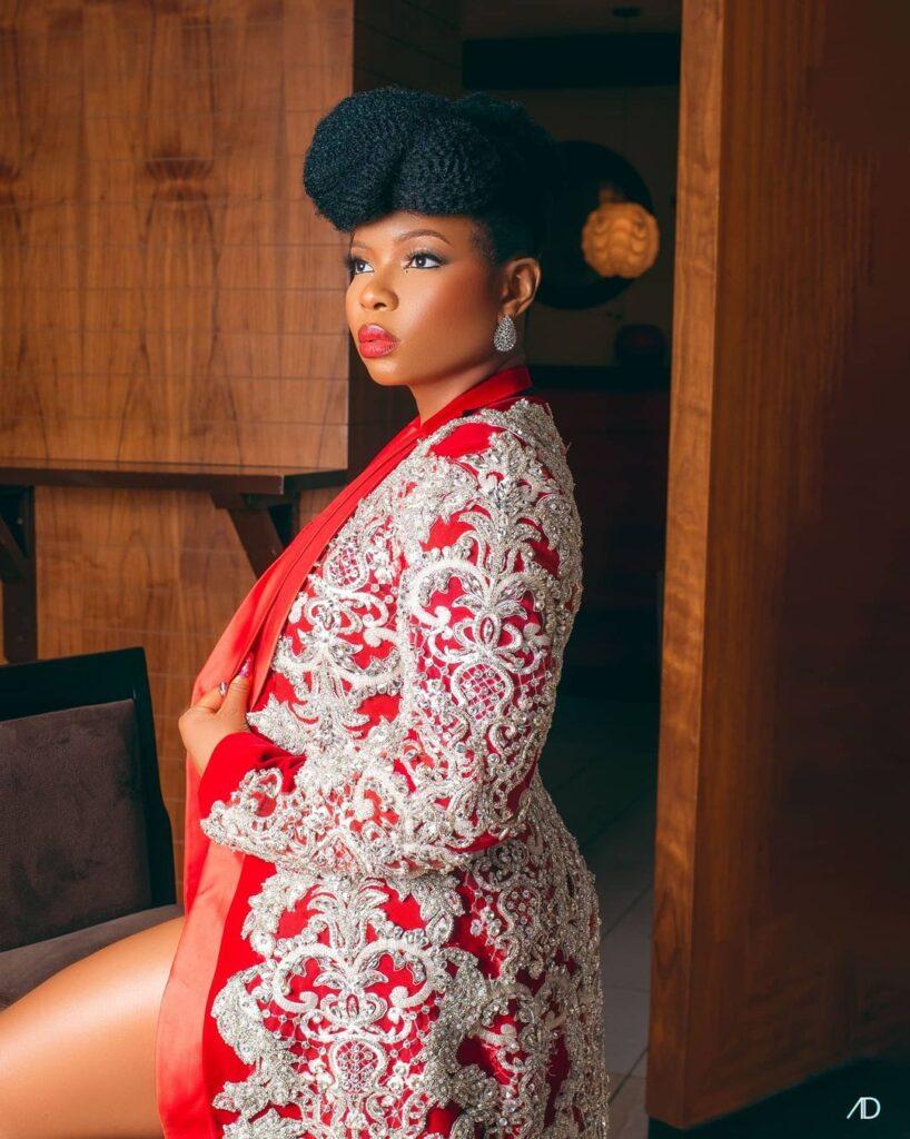 Yemi Alade Wears Diamond Laced Blazer by Mai Atafo