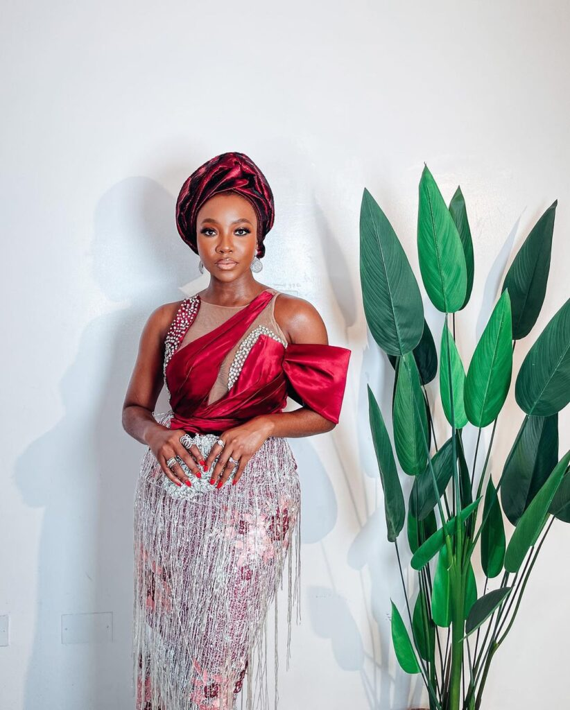 Ini Dima-Okojie Asoebi Gets Fans Talking