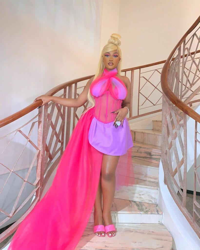 Diana Eneje transformed into a barbie doll for her 19th birthday